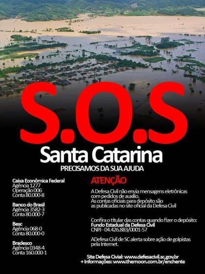 Salve Santa Catarina, Salve Vidas!